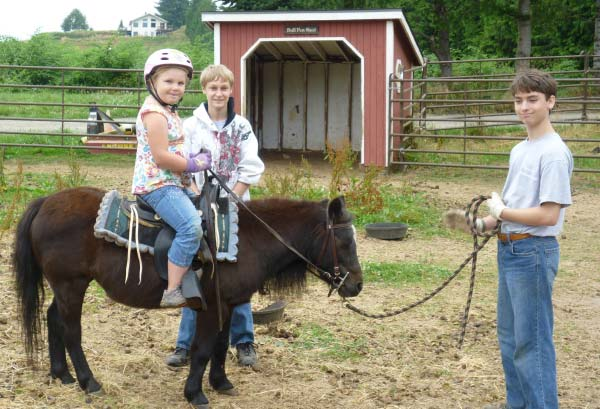Young OMF Inc. Student Riding Clancy the Pony