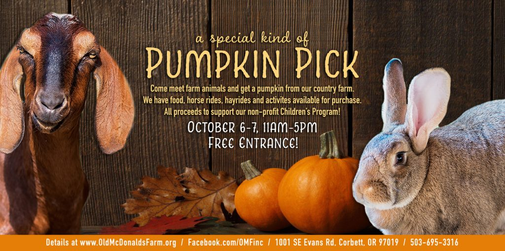 OMF Pumpkin Pick Oct. 6 & 7 11:00 am - 5:00pm